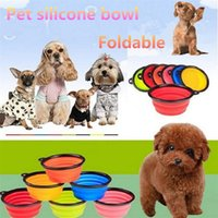 Silicone Dobra Pet Bowl com Climbing Clip Gancho Dog Alimentando Bowl Gatos encapsuláveis ​​Water Dish Portable Alimentador Pet Travel Bowls IA033