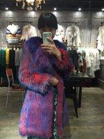 Wholesale Dog Women - real Raccoon Dog fur coat Knitted Raccoon Dog fur coat women natural Raccoon Dog fur jacket