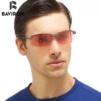 Wholesale Wholesale Polarized Fishing Sunglasses - Wholesale- BAVIRON Increased Clarity Sunglasses Man fish Polarized Glare Night Vision Glasses For Men To See Drift Red Sun Glasses 3043