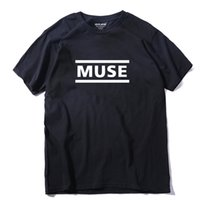 Wholesale Muse Black - 100% COTTON Newest 2017 men's fashion short sleeve night MUSE printed t-shirts funny tee shirts men