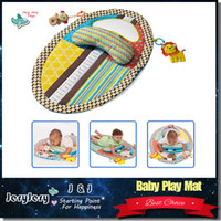 Wholesale Cute Colorful Stuffed Animals - Sozzy Colorful Lovely Baby Play Mat Changing Pad With Stuffed Cute Animal Pillow Safety Mirror Early Education Toy