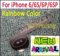 yeni ışık logosu toptan satış-Yeni Gökkuşağı Renkli Lüminesans Parlayan LED Işık Up Şeffaf Logo Mod Paneli Kiti iphone 6 6 S Artı 6 Artı Ücretsiz Nakliye
