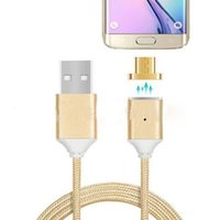 Wholesale Iphone Charger Nylon - AAA quality nylon weave magnetic usb data cable high speed charger sync data line 2.1A Charging Cable for samsung s6 iphone 7 with 5 colors