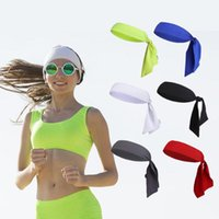 Wholesale red bandana headband - Wholesale- Outdoor Sports Running Tennis Yoga Gym Headband Hair Band Wrap Bandana