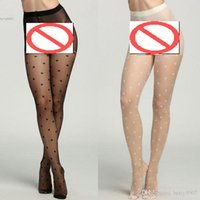 Wholesale Ladys Sexy - New Fashion Sexy Slim Full Length big dotted design Stretch Socks Hosiery seamless Hot Women Ladys Gift