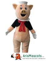 disfraz de cerdo personalizado al por mayor-Lovely Pig mascot costume Custom Team Mascots Sports Disfraz de mascota Desuisement Mascotte Character Design Company ArisMascots