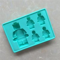 Wholesale Silicone Molds For Chocolates - DIY Silicone Chocolate Mold Star Wars Lightsaber Ices Pop Maker Ice Making Mould Robot Design Baking Molds For Kitchen 3 1xg AR