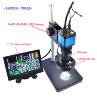 HD 14MP HDMI 1080P USB Digital Industrie Inspection Vidéo Microscope Set Caméra TF Video Recorder + 180X C-MOUNT Zoom Lens