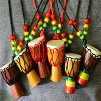 Wholesale Percussion Sale - Mini Punk Drum For Sale Percussion Musical Instrument Necklace African Hand Drum Featured Gifts Jewelry Accessries Wholesale