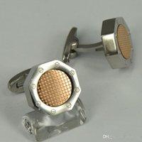 Wholesale Round Green Cufflinks - A-&-P High Quality Best Design AAA+ 8 Colors Octagon Shape Round Dot Inside Famous Cufflinks