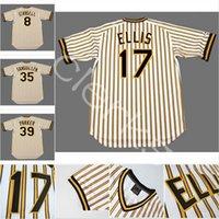 Wholesale Dave Parker - Custom Pittsburgh PIT 17 Dock Ellis 39 Dave Parker 8 Wiilie Stargell 35 Manny Sanguillen 45 John Candelaria Throwback Baseball Jerseys