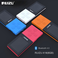 Wholesale Book Card Games - Wholesale- 2017 Original RUIZU X18 8G Bluetooth Sport MP3 Player Lossless Recorder FM Radio Bluetooth 4.0 Music Player Support 64G TF Card
