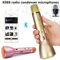 Wholesale Computers Portable Sale - 2017 Fashionable Hot Sale K Song K088 Mini Portable Wireless Bluetooth Microphone Speaker Outdoor KTV Singing Machine