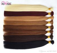 saç fabrikaları toptan satış-Ucuz 2018 Yeni İnsan Saç Örgü Toplu Saç Fabrikası Için Işlenmemiş Saç Düz 20 22 24 inç 100 g / grup Toptan Ali Sihirli Toptan