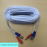 Wholesale Cctv System Camera White - 18 meters of white monitoring video line CCTV Cable 18 meters with BNC Video & DC Powerfor CCTV Security Camera System
