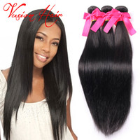 Kinky Straight Raw Indian Hair Weave 3Pcs / Lot Cheveux Humains Weave Bulk Naturel Noir Double Trame Real Hair Extensions Bulk Wholesale