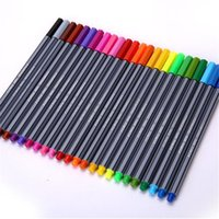 Wholesale Sketch Painting - 24PCS Set Color 0.4 mm Fiber Marker Pen Fineliners Copic Markers Sketch Drawing Art Painting Professional Felt Tip Fine Pen