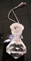 Wholesale Wholesale Clear Acrylic Christmas Ornaments - 5pcs lot,New brand hang snowflake decoration christmas festive ornaments acrylic fascinating snowman diamonds drop shipping low price