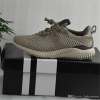 PVC outdoor bounce - 2017 Alpha Bounce BB9043 Boost Running Shoes High Quality Discount Cheap Kanye West Men Women Light breathable Sneaker Shoes With Box