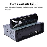 Wholesale Din Detachable - 12V 1 Din Bluetooth Car Radio Audio Stereo MP3 Player Front Detachable Panel Support SD   FM   AUX   USB CAU_01Q