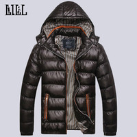 Wholesale Padding Feathers - Wholesale- 2016 Men's Winter Light Down Jackets Hooded Men Warm Thick Coats Mens Cotton-Padded Parka Male Casual Feather Jacket,UMA302