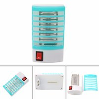 Wholesale Wholesale Traps - Wholesale- 1W US Plug LED Electric mosquito killer lamp Mosquito Repellent Fly Bug Insect Killer Trap Night Lamp Zapper 4.72x2.76inch