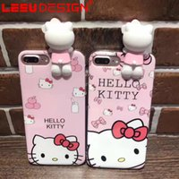 Wholesale Kitty Cell Iphone Case - 2017 cell phone case for iphone 7 7 plus case silicone anti shock cute hello kitty iphone case for iphone 6 6plus 7plus