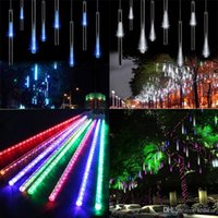 50CM Meteor Shower Rain Tubes LED Mini Meteor Lights LED Strings Light 8pcs LED Light Luz de Natal Decoração de jardim de casamento