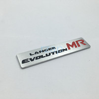 Nuevo estilo Lancer Evolution MR 3D Metal Logo Car Rear Trunk Badge Emblema Etiqueta para Mitsubishi Lancer