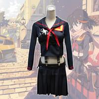 Wholesale La Made Xs - kill LA kill Halloween Girl's Battlesuit Ryuko Matoi Dress Outfit Cosplay Costume