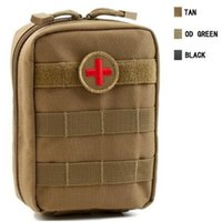 Wholesale First Aid Bag Red - 4 Colors Empty Bag for Emergency Bag Tactical Medical First Aid Kit Waist Pack Outdoor Camping Travel Tactical Molle Pouch CCA7342 20pcs