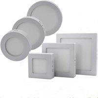 Wholesale dimmable led panel light suspended - Dimmable 9W 15W 21W LED Panel Lamp Round Square Panel Light Surface Mounted Led Downlight lighting Led Ceiling Down Light + Drivers