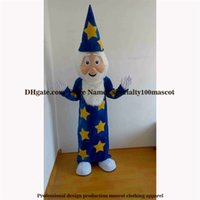 Wholesale Mascot Costumes Wizard - High quality carnival adult Magician mascot costume free shipping,Real pictures deluxe party the wizard mascot costume factory direct