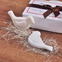 Wholesale Shaped Scented Soap - Love Dove Bird Shaped Scented Soap For Wedding Party Birthday Baby Shower Souvenirs Gift Favor Free Shipping ZA4329