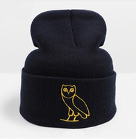 Wholesale Fashion Designer Drake Ovoxo Winter Warmer Hat Skullies Slouchy Beanies Unisex Knitted Hat Mens And Womens Skull Hip Hop Cap Hair Bonnets