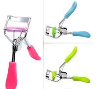Wholesale Eyelash Curler Free Shipping - Arrive Ladies Makeup Eyelash Curling Eyelash Curler with comb Eyelash Curler Clip Beauty Tool Stylish free shipping