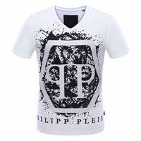 Wholesale Designer Fashion Tshirts - pp8328 M-3XL 2017 new style Tide brand men's Tshirts Hot drilling and printing Designer Men T-shirts Stretch cotton top quality tshits Skull