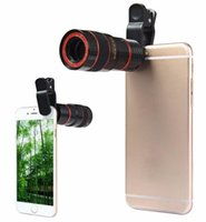 Wholesale Lens For Cell Phones - Telescope Lens 8x Zoom unniversal Optical Camera Telephoto len with clip for Iphone Samsung HTC Sony LG mobile smart cell phone