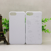 Wholesale Wholesale 3d Cell Phone Cases - 3D Blank sublimation cell phone Case cover Full Area Printed For apple iphone 5 5s se 6 6s 6s plus 7 7 plus galaxy s6 s7 s8 edge plus