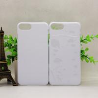 Wholesale 3d Sublimation Phone Cases Blanks - 3D Blank sublimation cell phone Case cover Full Area Printed For apple iphone 5 5s se 6 6s 6s plus 7 7 plus galaxy s6 s7 s8 edge plus
