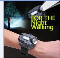 Wholesale Wrist Watch Led Flashlight - Tactical R2 Rechargeable CREE XPE Q5 LED Watch Flashlight Wristlight Waterproof Wrist Lighting Light Portable Lamp Outdoor LED flashlight
