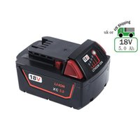 Wholesale Milwaukee 48 - Replacement Lithium Battery 18V 5.0Ah for Milwaukee M18 XC High Capacity Red Lithium Cordless Power Tools M18B 48-11-1820 48-11-185048-11