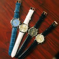 часы для воды оптовых-оптовое 100pcs / lot смешивания 4colors кожаные наблюдатели отдыха Waters WR034