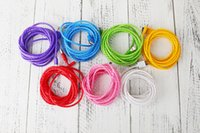 Wholesale Android Jelly - Candy Jelly Colors 3M Micro V8 Android Usb Charger Charging Cable For Samsung Htc Lg Phone Power Bank Sync Data Line 2.0
