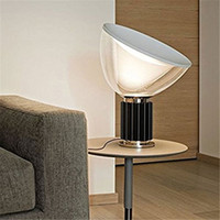 Wholesale Flos TACCIA table lamp Taccia desk lamp modern lighting discount light joao taccia style flos design clear glass shade metal base desk lamps