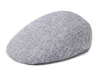 Newsboy Beret Caps pour hommes et femmes Mode British Autumn Winter Warm Linen Cabbie Cap Casquettes Flat Cap for Male High Quality