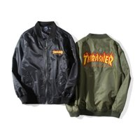 Wholesale English Men Suits - Thin section of the baseball suit jacket English embroidery air force men style windbreaker