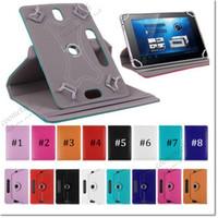 amazon tablet kutuları toptan satış-7 8 9 10 inç evrensel tablet kılıf 360 Derece Döndür pu Deri Kılıf ipad Kapak Samsung Galaxy Tab 3 4 iPad Hava Tablet PC