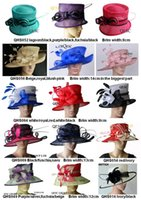 Wholesale Dresses For Races - NEW BIG Design dress wedding bridal organza sinamay hat Ladies Hat fascinator for Kentucky Derby,Ascot,church,races,FREE SHIPPING