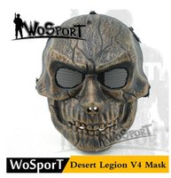 Wholesale Net Masks - popular WoSporT Desert Legion V4 Mask Outdoor RecreationTactical Necessary Full Face Metal Net Mesh Protective Mask,discount Training Mask